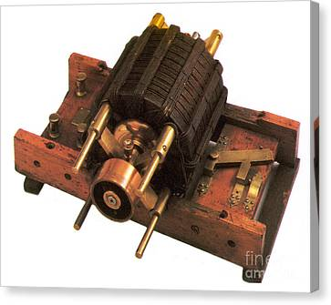 Induction Motor Canvas Print by Photo Researchers