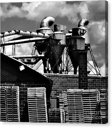 Industrial Building Canvas Print by HD Connelly