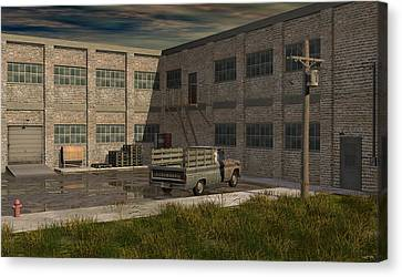 Industrial Courtyard Canvas Print by Robin Meade