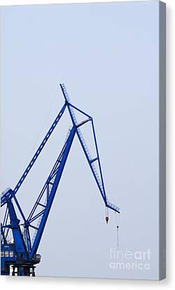 Industrial Crane Canvas Print by Sam Bloomberg-rissman