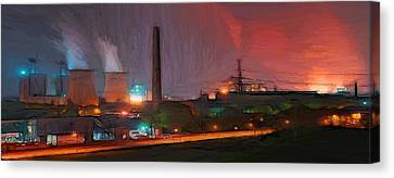 Industrial Lights Canvas Print by Steve K