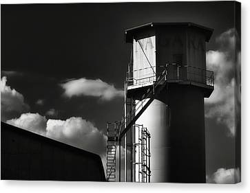 Industrial Silo, Mizuho Canvas Print by Photography by Stephen Cairns
