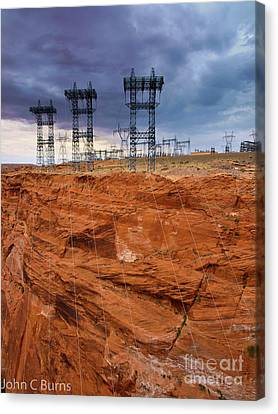 Industry Vs. Nature Canvas Print