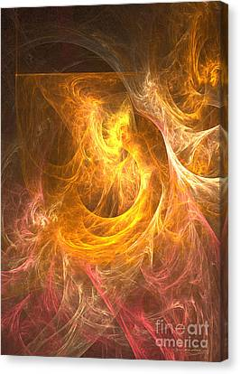 Inferno - Abstract Digital Art Canvas Print by Sipo Liimatainen