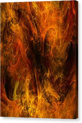 Inferno Canvas Print by Niels Walther