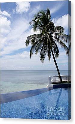 Canvas Print featuring the photograph Infinity Pool Big Corn Island Nicaragua by John  Mitchell