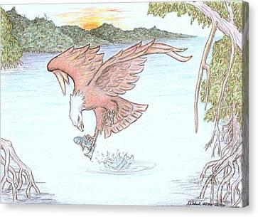 Osprey Canvas Print - Inflight Meal by Desley Brkic