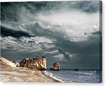 Infrared Aphrodite Rock Canvas Print by Stelios Kleanthous