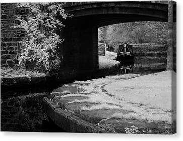 Canvas Print featuring the photograph Infrared At Llangollen Canal by Beverly Cash