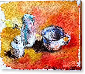 Ink Painting Tools Canvas Print by Mona Edulesco