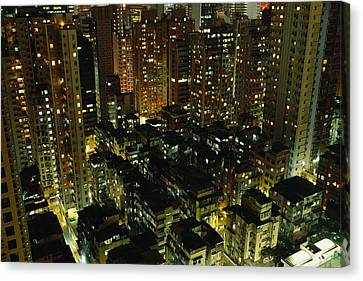 Inland View Of Sheung Wan And Central Canvas Print by Justin Guariglia