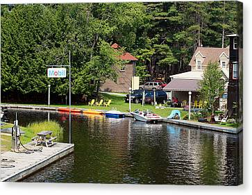 Inlet On Seven Lakes Canvas Print by Ann Murphy