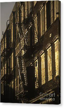 Inner City Fire Escapes Canvas Print by Will & Deni McIntyre
