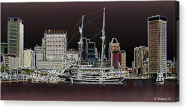 Inner Harbor - Baltimore Canvas Print by Brian Wallace