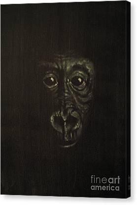 Canvas Print featuring the painting Innocense by Annemeet Hasidi- van der Leij