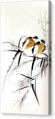 Inseparable Couple Canvas Print by Ming Yeung