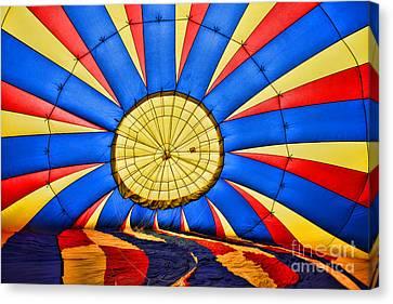 Inside A Hot Air Balloon Canvas Print by Paul Ward