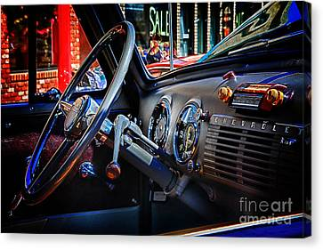 Inside Chevy Canvas Print by Lori Frostad