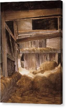 Inside Keeler's Barn Canvas Print by Karol Wyckoff