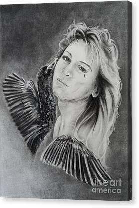 Self-portrait Canvas Print - Inside Out by Carla Carson