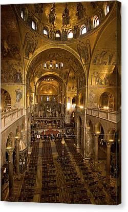 Inside San Marcos Basilica Canvas Print by Jim Richardson