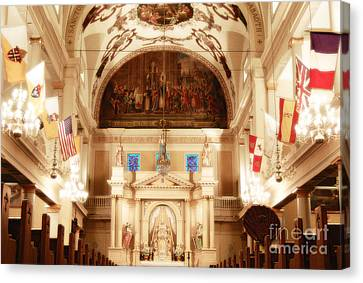 Inside St Louis Cathedral Jackson Square French Quarter New Orleans Diffuse Glow Digital Art Canvas Print by Shawn O'Brien