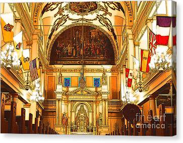 Inside St Louis Cathedral Jackson Square French Quarter New Orleans Digital Art Canvas Print by Shawn O'Brien