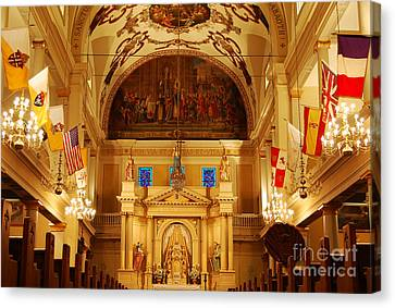 Inside St Louis Cathedral Jackson Square French Quarter New Orleans Canvas Print by Shawn O'Brien