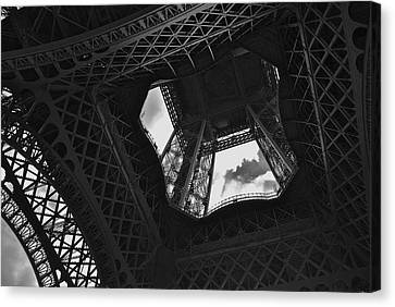 Canvas Print featuring the photograph Inside The Eiffel Tower by Eric Tressler