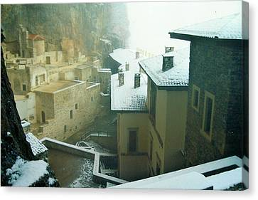 Canvas Print featuring the photograph Inside The Monastery by Lou Ann Bagnall