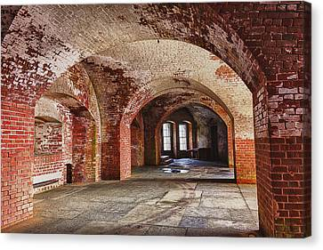 Inside The Walls Canvas Print by Garry Gay