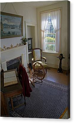 Inside Yaquina Bay Lighthouse Canvas Print by Mick Anderson