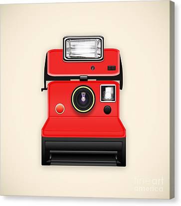 Instant Camera With A Blank Photo Canvas Print by Setsiri Silapasuwanchai