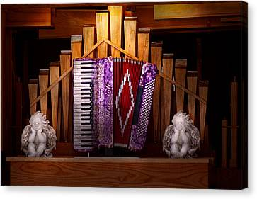 Instrument - Accordian - The Accordian Organ  Canvas Print by Mike Savad