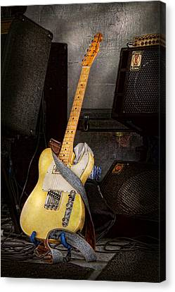 Instrument - Guitar - Playing In A Band Canvas Print by Mike Savad