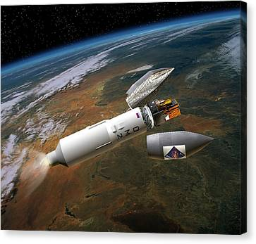 Integral Satellite Launch, Artwork Canvas Print by David Ducros