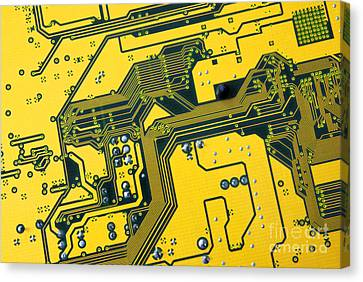 Electronic Component Canvas Print - Integrated Circuit by Carlos Caetano
