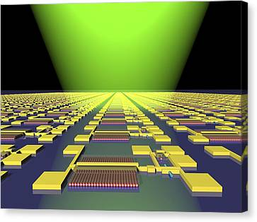 Integrated Nanowire Circuit, Artwork Canvas Print by Lawrence Berkeley National Laboratory