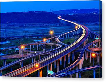 Interchange Canvas Print by Photo by Vincent Ting