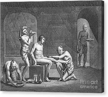 Interior Of Egyptian Bath Canvas Print by Granger