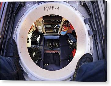 Interior Of Mir-1 Submersible Canvas Print