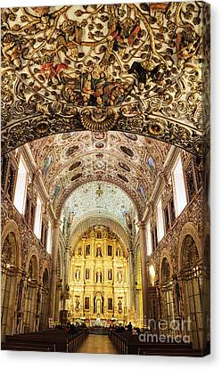 Interior Of The Church Of Santo Domingo Canvas Print by Jeremy Woodhouse