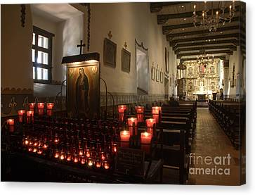 Interior Old Mission Canvas Print by Bob Christopher