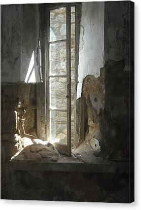 Canvas Print featuring the photograph Interior Window by Christophe Ennis
