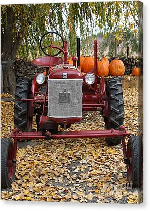 International Harvester Mccormick Farmall Cub Farm Tractor . 7d10305 Canvas Print by Wingsdomain Art and Photography