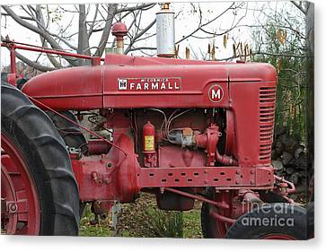 International Harvester Mccormick Farmall Farm Tractor . 7d10321 Canvas Print by Wingsdomain Art and Photography