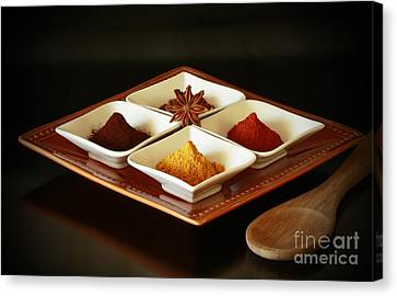 International Kitchen Spices Canvas Print by Inspired Nature Photography Fine Art Photography
