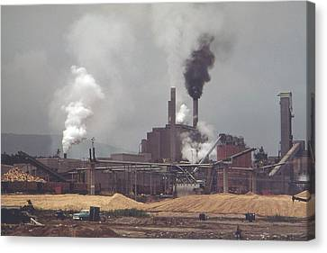 International Paper Company Mill In Jay Canvas Print by Everett