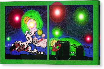 Interplanetary Conceptual Diptych 2 Canvas Print by Steve Ohlsen