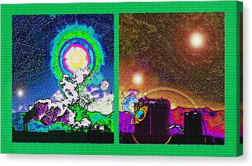 Interplanetary Conceptual Diptych Canvas Print by Steve Ohlsen